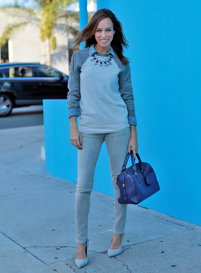 Sydne-Style-gray-jeans-trend-citizens-of-humanity-fall-layering-chambray-shirt