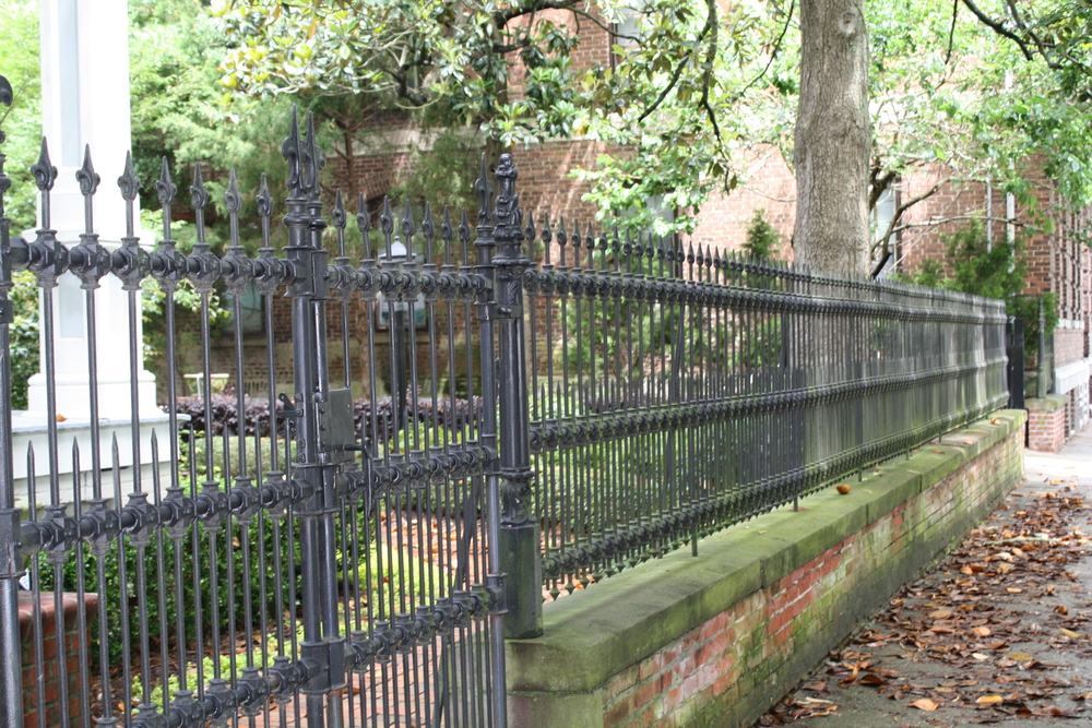 wrought iron gate Historic Downtown Wilmington NC