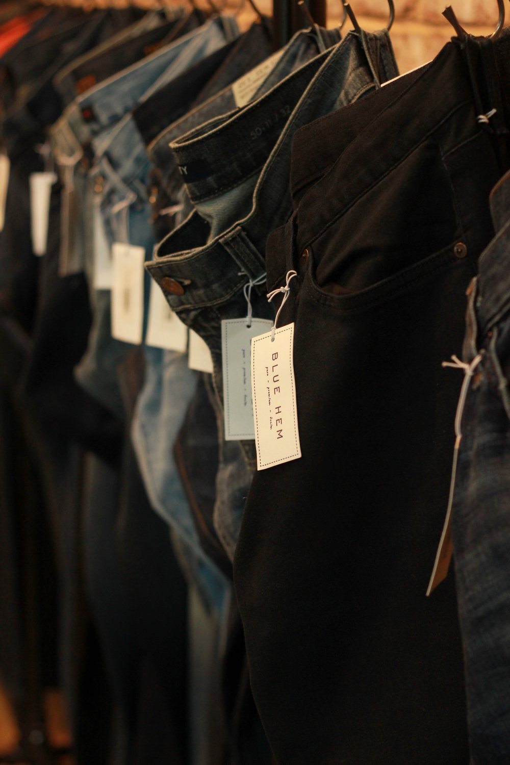 Hanging denim at Blue Hem.jpg