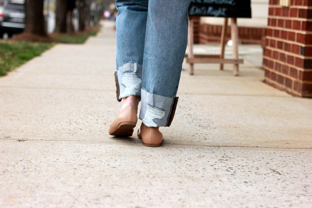 Joe's Jeans distressed cuff Blue Hem