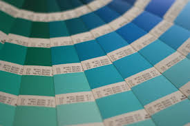 green and blue swatch