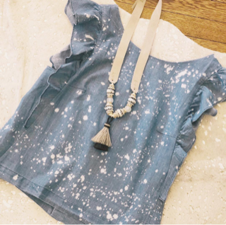 Chambray Spatter top....LOVE! And the Twine & Twig necklace...SWOON!