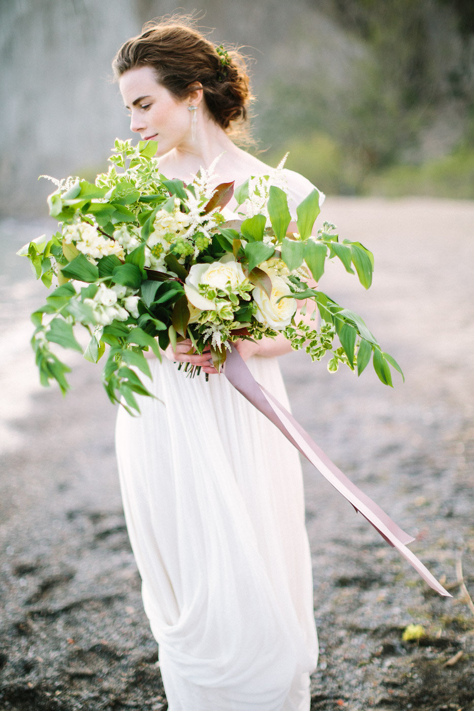 Organic Luxury Updo Hair Style Bride Toronto