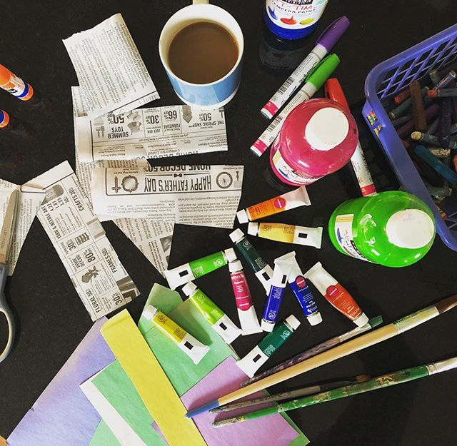Research and development, Art School style. Our February box is coming soon! #artschoolbox