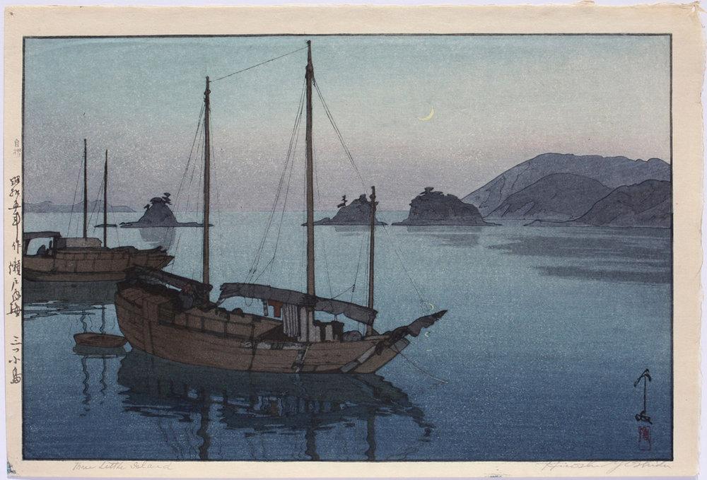 Yoshida, Hiroshi-Three Little Islands, 1930-Ogura 145.jpg