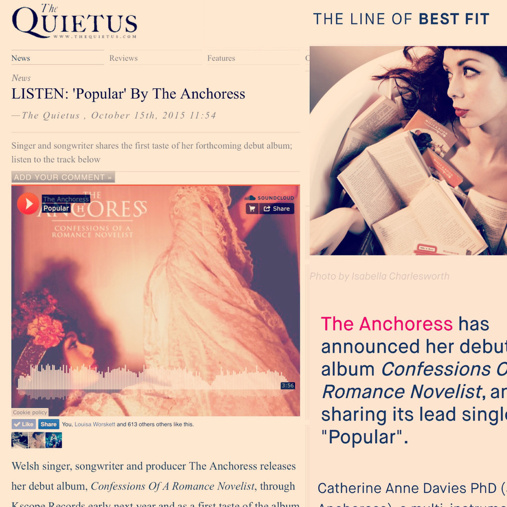 The Quietus  and The Line Of Best Fit announce the release of the album via Kscope with The Quietus premiering the first taster track, 'Popular'.    The track is available now when you  preorder  Confessions Of A Romance Novelist  from iTunes .