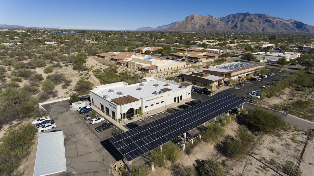 Urology-associates-southern-arizona-tucson-solar-steel-canopy