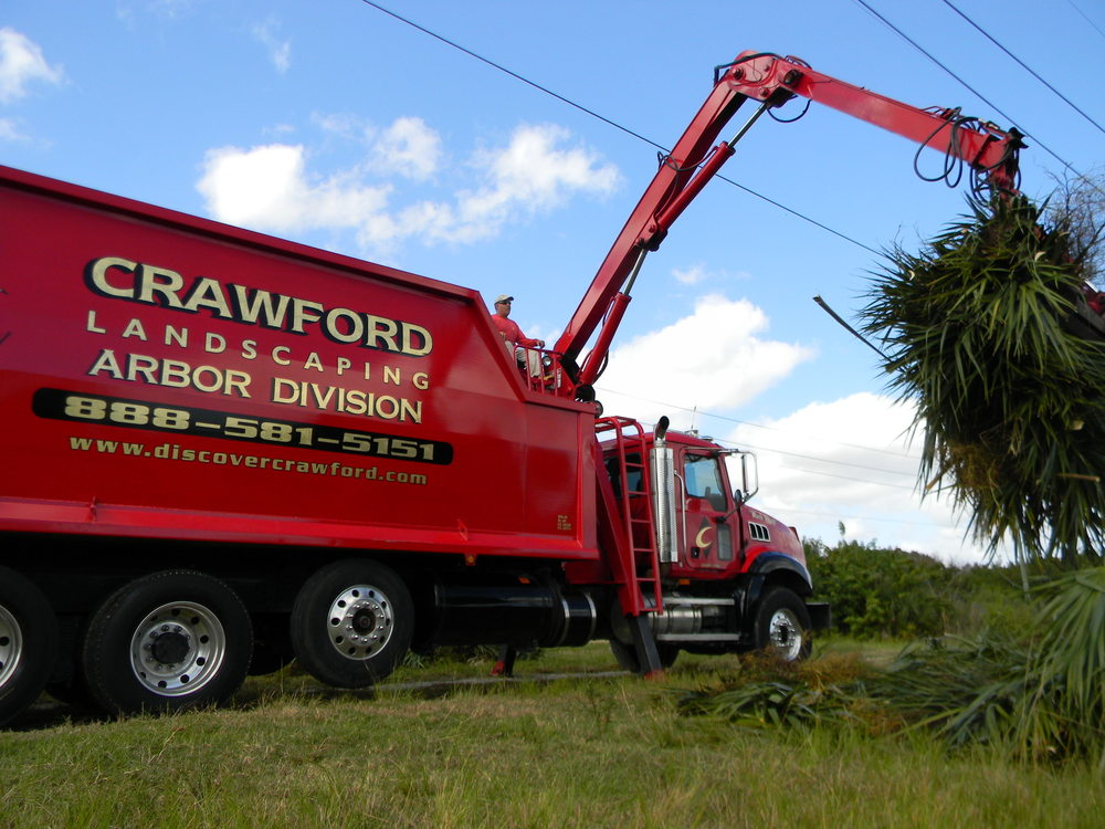 One of Crawford's massive Arbor vehicles at work