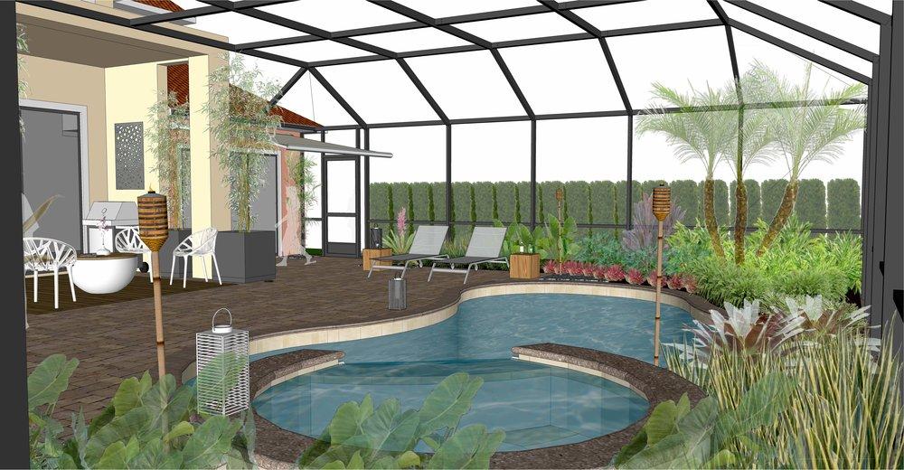 3D Rendering - Raymond Residence Lanai