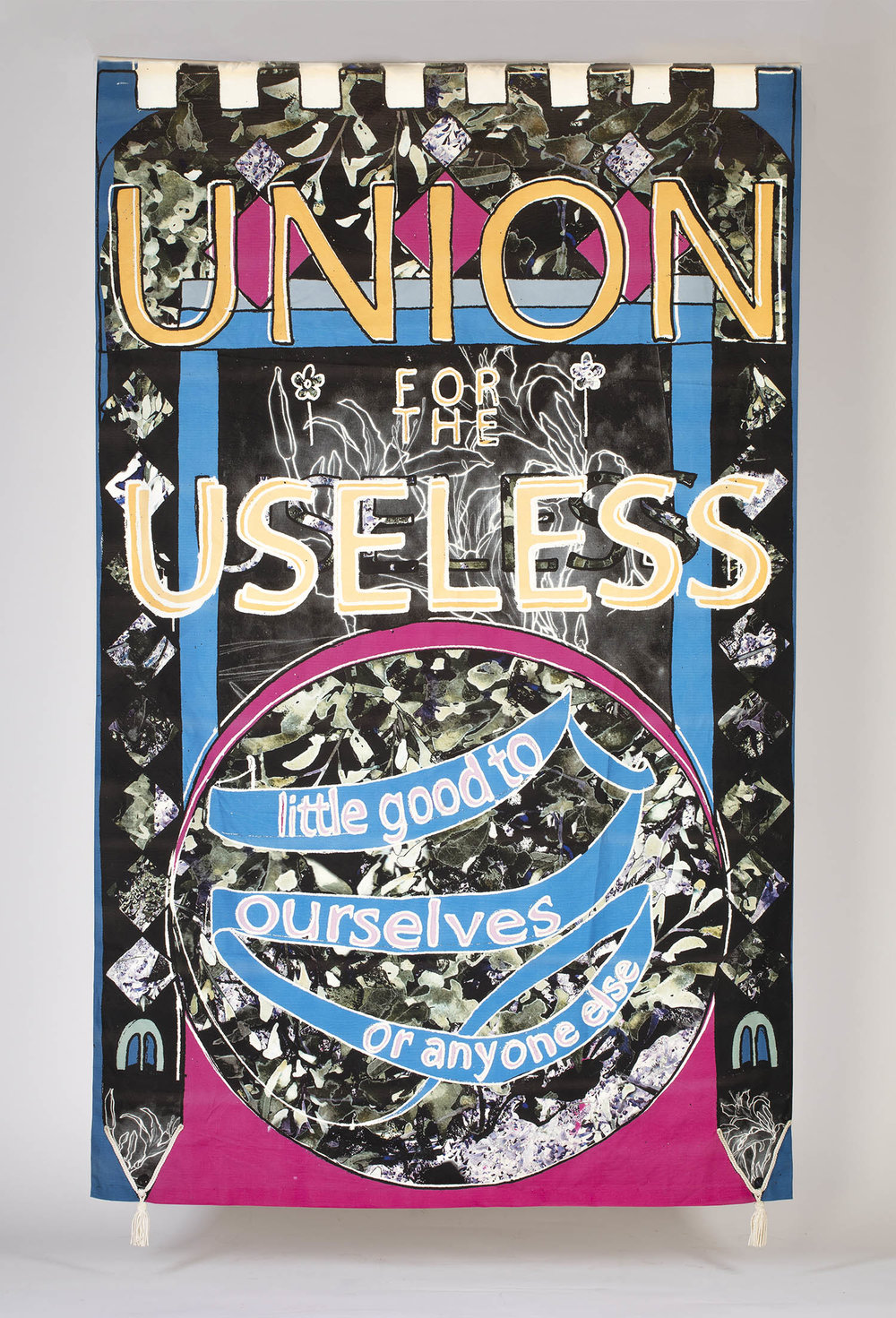 """Union for the Useless"" Banner by Laura Cowley"