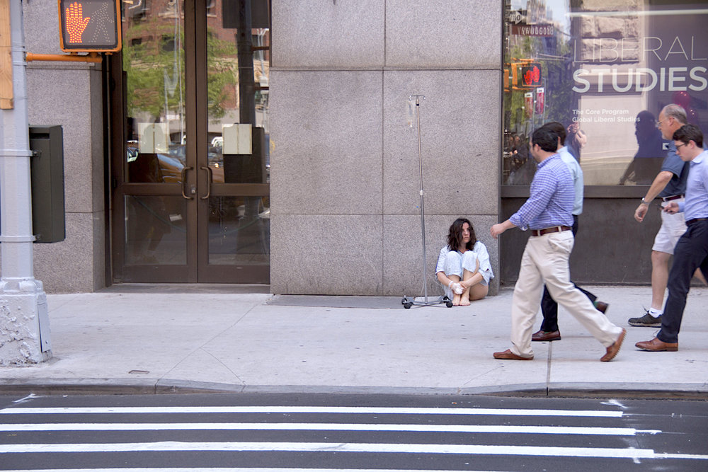 """Documentation of """"Alive,"""" performed in Manhattan by Rosary Solimanto"""