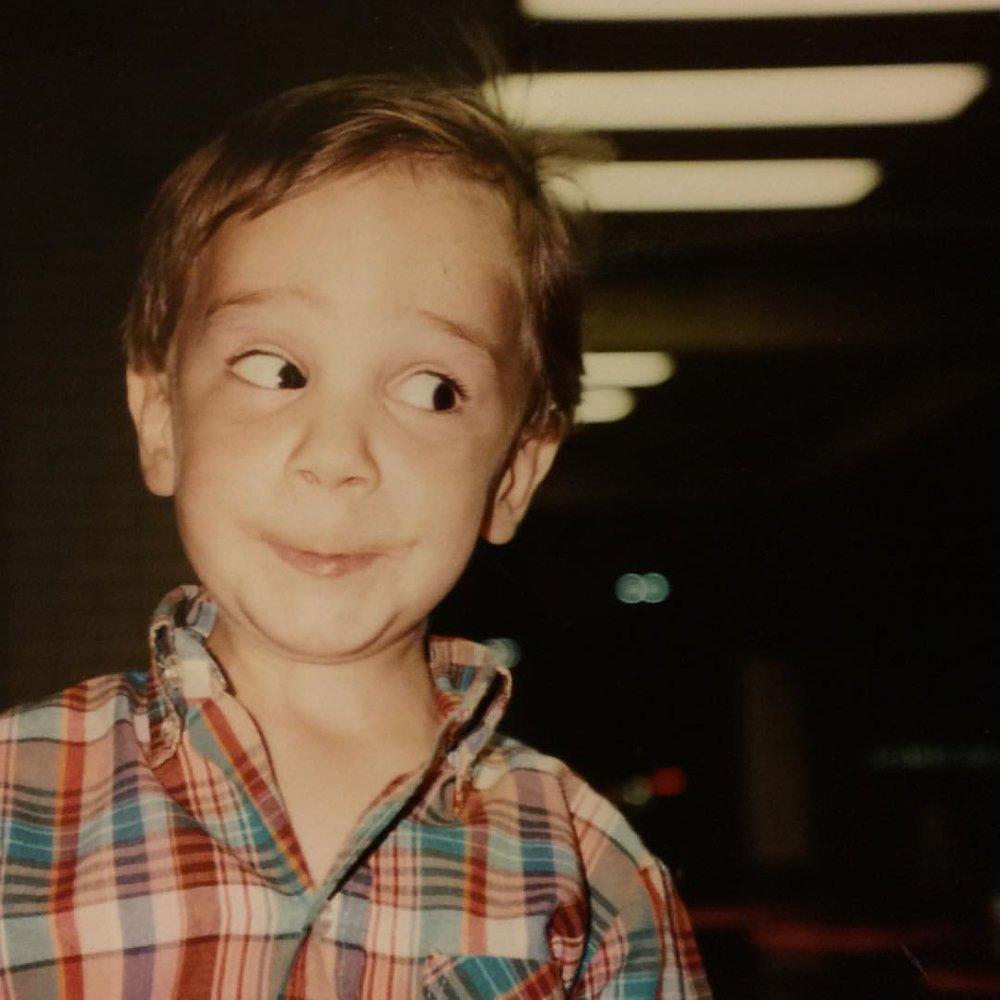Adam, 4 years old, serving side-eye