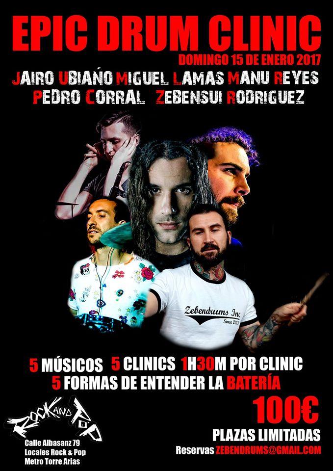 Clinic batería Estudios Rock&Pop