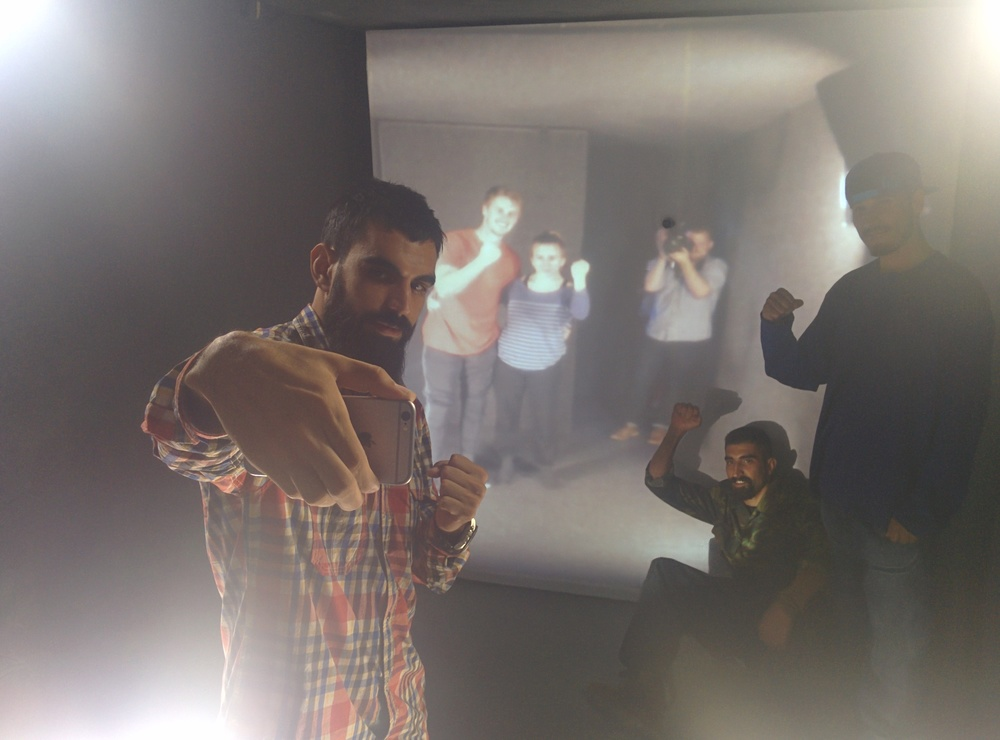 Rappers in Herat, Afghanistan collaborating with dancers in College Park, USA