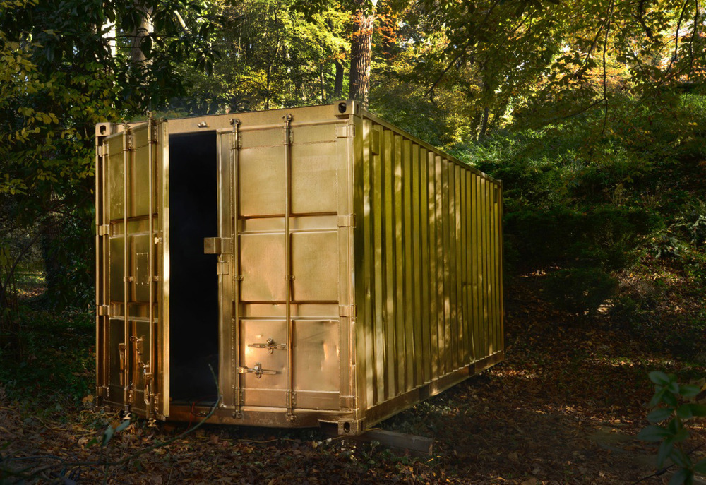 The original Portals shipping container while it was being constructed in Maryland.