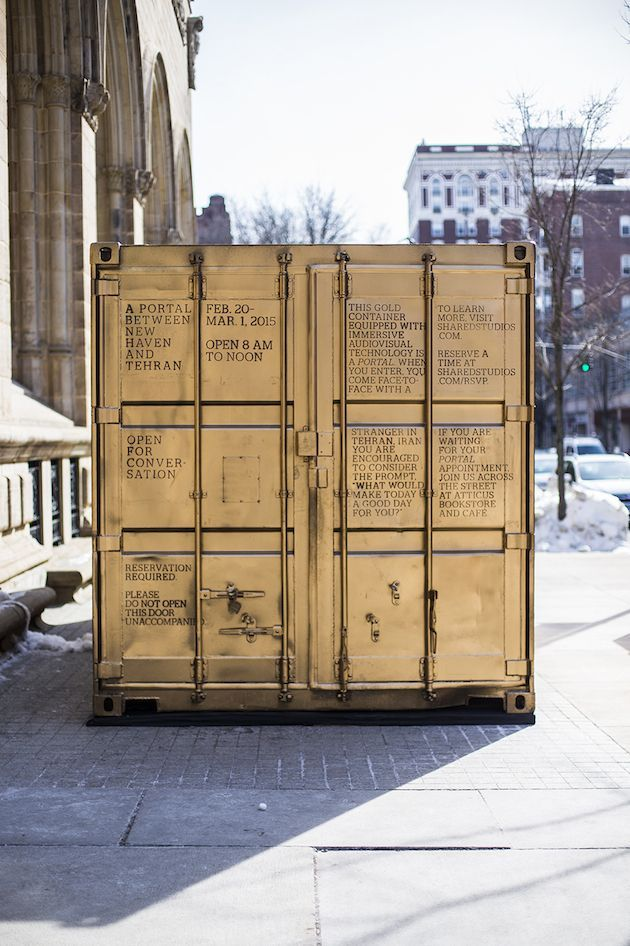 A portal at Yale University connected New Haven and Tehran. Photo courtesy Shared_Studios.