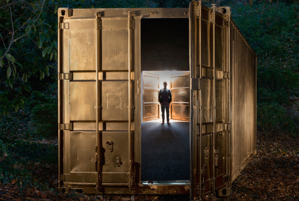 Step inside this shipping container, and you can start a conversation with someone from Tehran, Herat, or Havana. Photo by Elizabeth Bick.