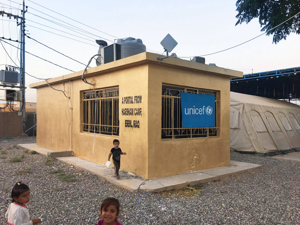 The Portal at the Harsham IDP Camp run by UNICEF Iraq.
