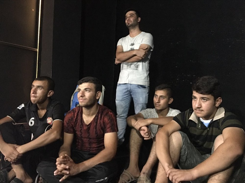 Young men in the Erbil Portal