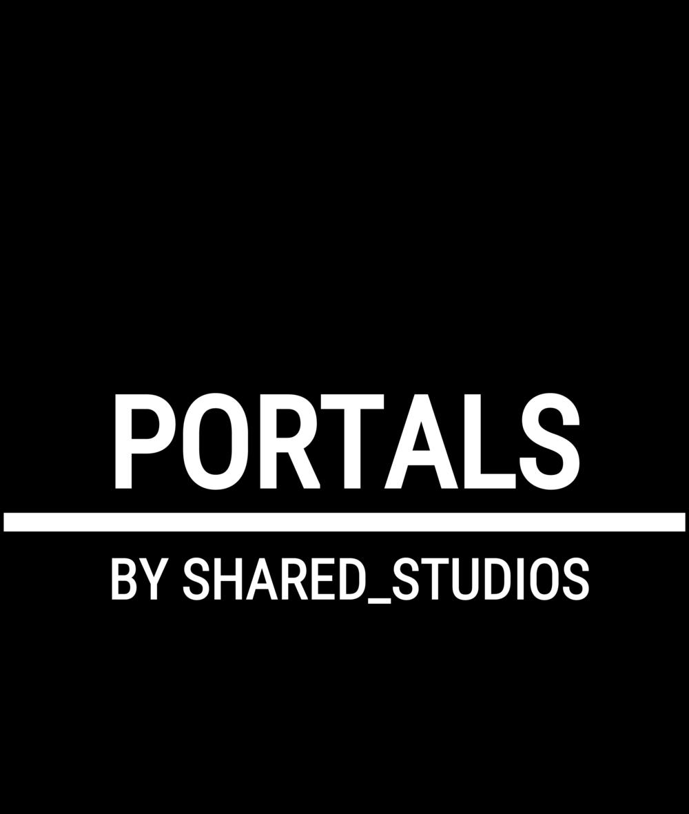 B&W Square Portals Logo:  PNG