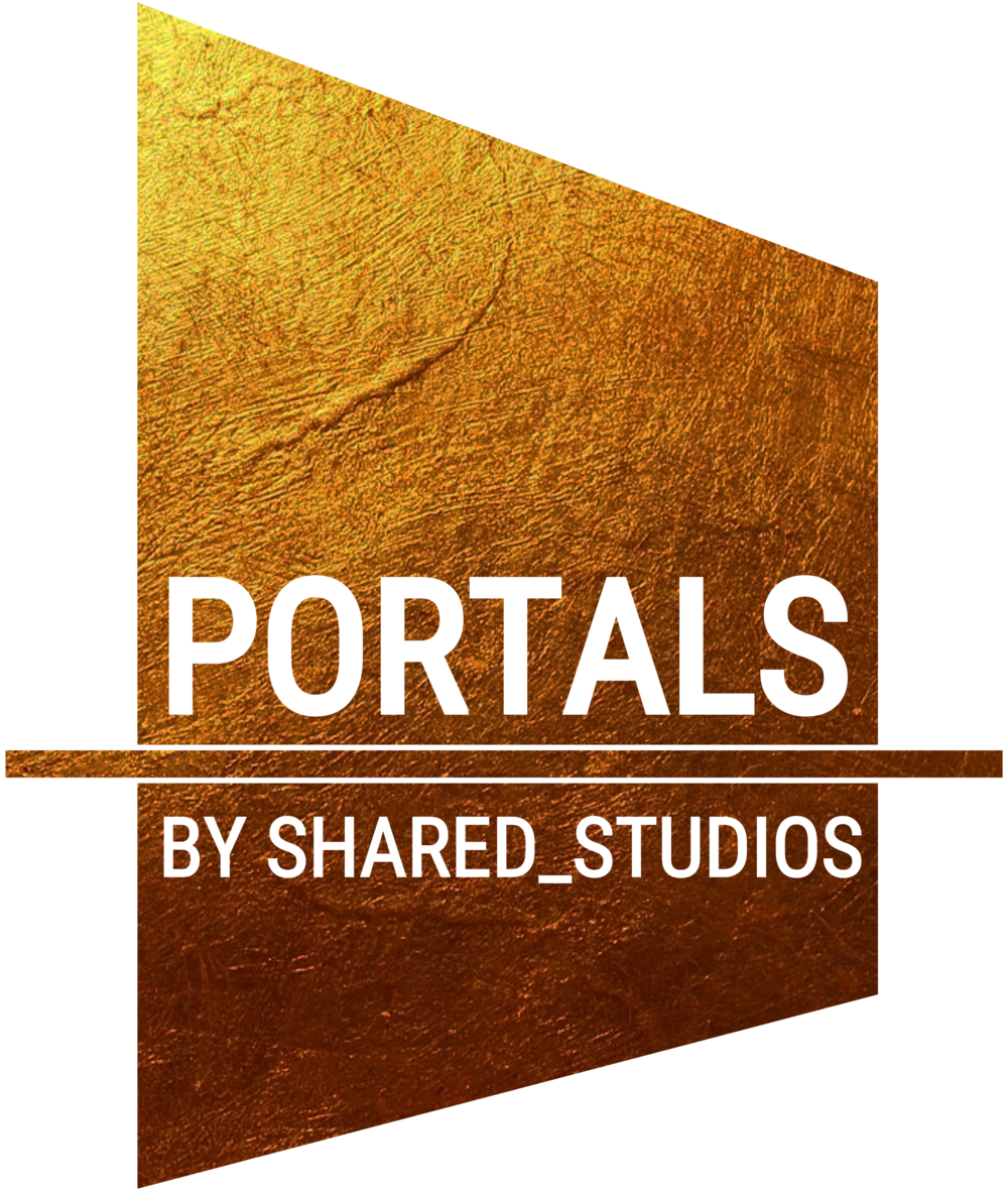 Gold on Transparent Portals Logo:  PNG