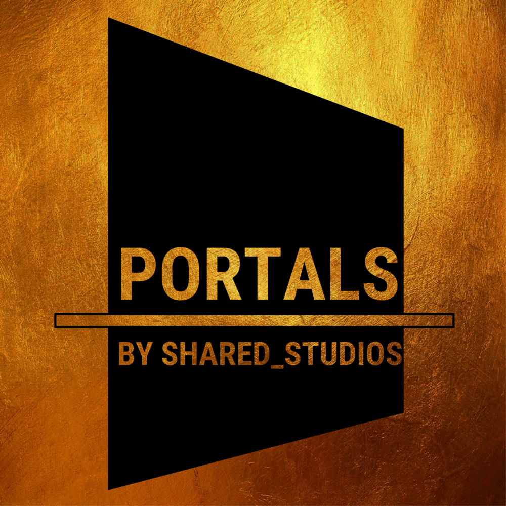 Black on Gold Portals Logo:  PNG