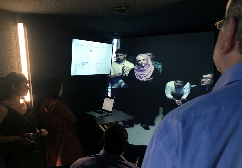 Students at Johns Hopkins University and in Gaza City innovate through Portals.