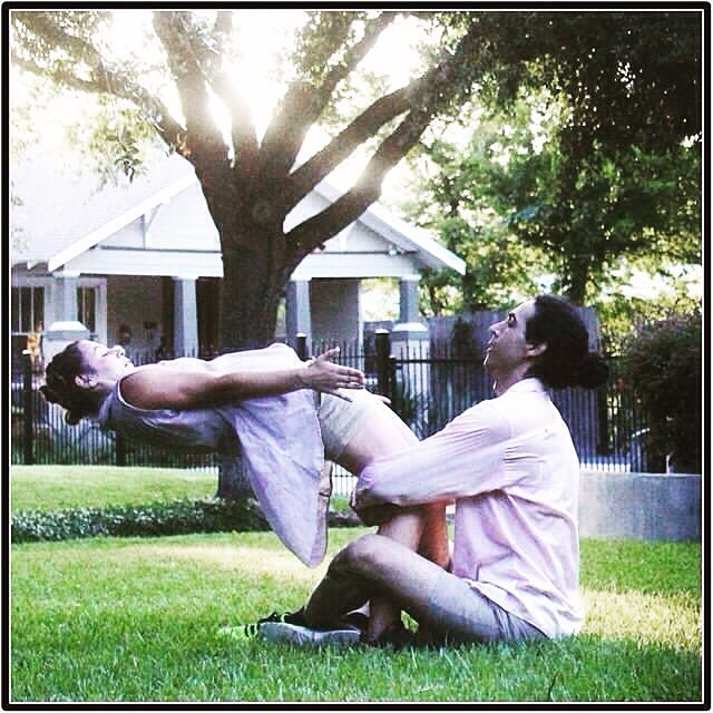 A moment from Totally Rude Variations, a work that was performed for three weeks in different locations around the city of Houston. Thanks Adam for posting this memory!