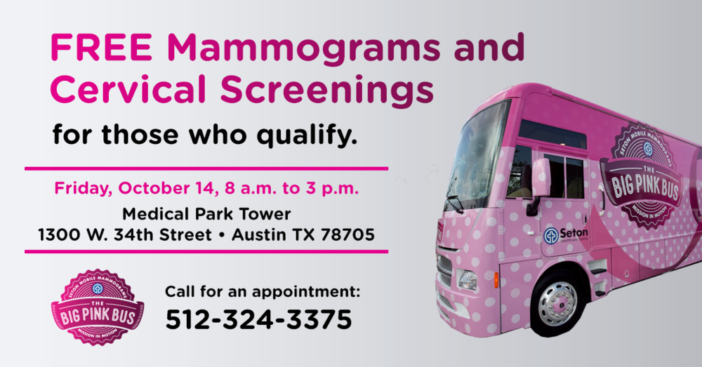 We're partnering with The Big Pink Bus to spread the word about free mammograms.