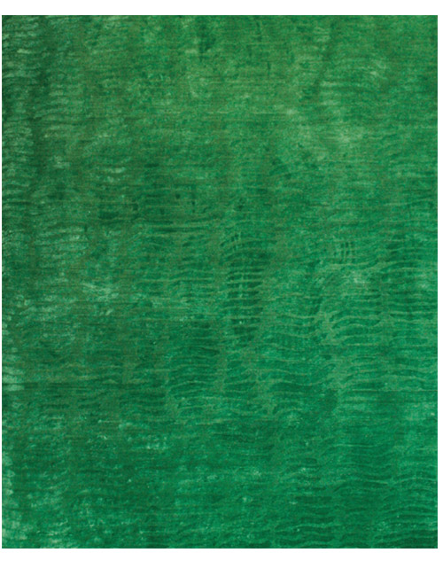 'Shells' rug in Green. Hand knotted Himalayan Wool and Silk blend