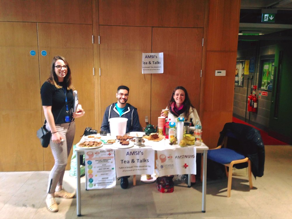 AMSI-NUIG - Tea/Talk in aid of Pieta House. €230 raised!