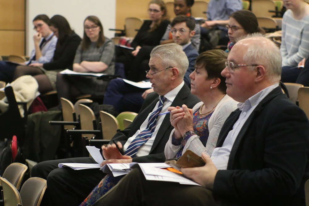 The Judges (L-R) : Dr. Vivion Crowley, Dr. Orla Shiels, Dr. Joe Harbinson   AMSI TCD Medical Case Competition 2018