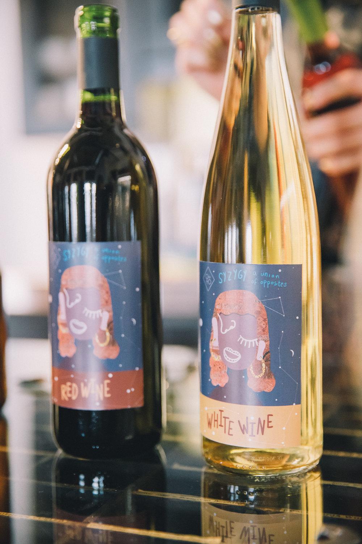 Branded wine courtesy of Mazzuca DPI