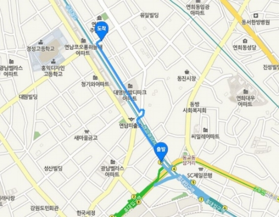 THE SHARE HOUSE IS A SHORT WALK AWAY FROM EXIT 3 OF HONGIK UNIVERSITY STATION.