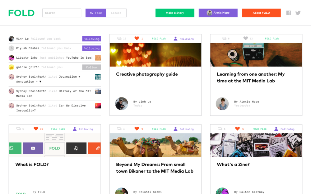 FOLD homepage (fold.cm)