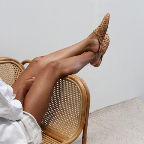 The Bunto Woven Loafers by  St Agni  from  Salt Living.  $229  IG: @stagnistudio  IG: @saltliving