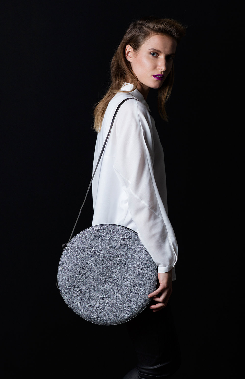 Are Leather Circle Bag $230