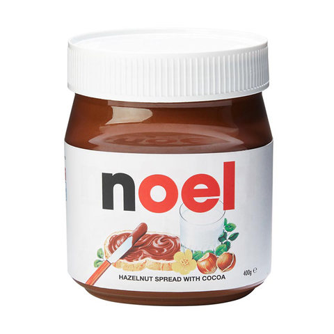 Personalised Nutella. From Kmart.You'll have to buy this one in store, but that's probably a good idea since it's Summer and it may go a bit funny in the post. This gift is so amazing, last year my Sister gifted one to me, my husband and my puppy! Check the details You can also buy these at Myer.