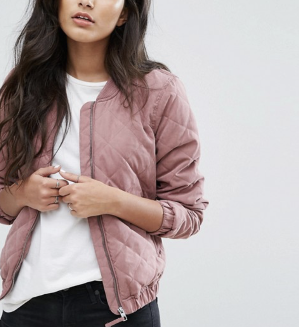 Bomber jacket. Find this one  here.