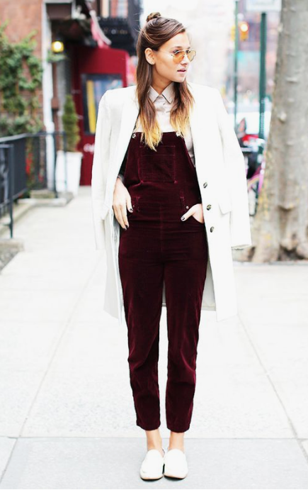 I really wanted some overalls, and the kind I wanted weren't available for plus size. So I'm getting some made! I'll show you once they're done. These are wine coloured, which I want a skirt in this colour. But I'm getting them in this seasons copper colour. Photo from Pinterest