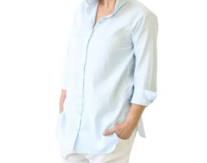 This collared longline shirt from The Birch House. $109.95 Find it  here.