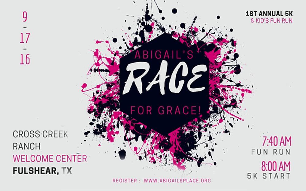 1st Annual Abigail's Race for Grace: 9/17/16