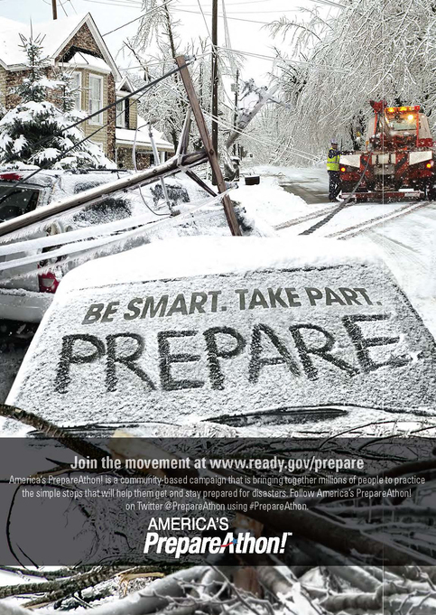 America's Prepareathon. Be Smart. Take Part. Prepare.This graphic image is part of the Winter Weather Safety Graphics collection.   America's Prepareathon. Be Smart. Take Part. Prepare.This graphic image is part of the Winter Weather Safety Graphics collection.