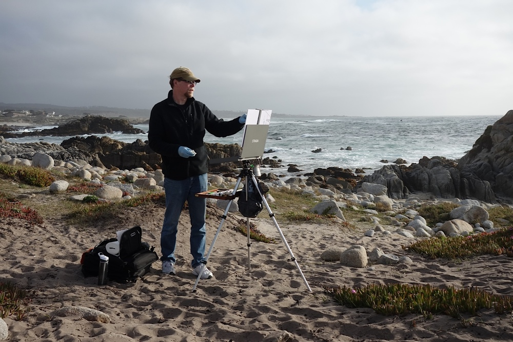 Plein air painting in California