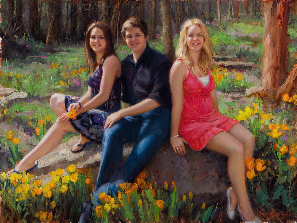 "The Judd Commission- The Siblings 30"" x 40"", oil on line, 2011"