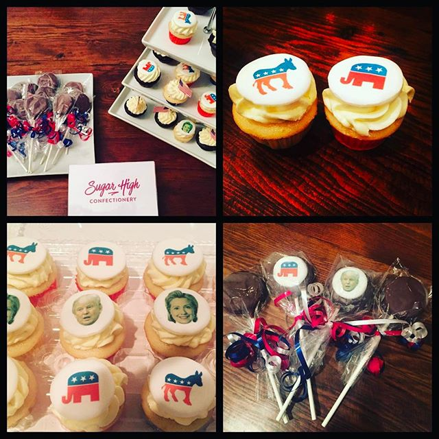 #tbt when #SugarHigh delivered  #sweettreats to Election Parties in the city #cupcakes #chocolatecoveredoreos #logodesigns