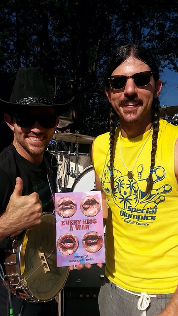 The Avett Brothers with their copy of EKAW! (Photo by Jeremy Okai Davis!)