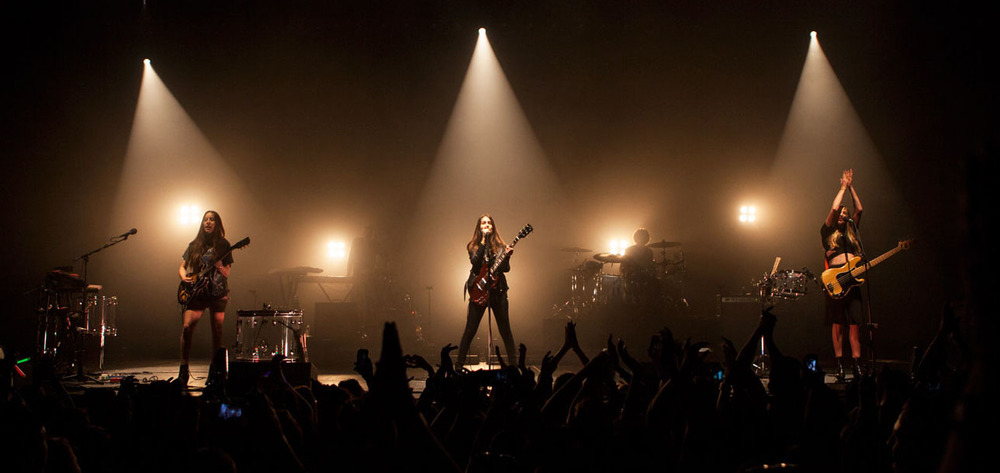 HAIM, band, rock, best rock band, live, concert, walk softly