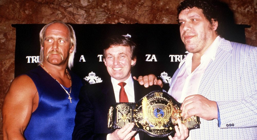 wrestlemania, hogan, andre, trump, talk hard, podcast