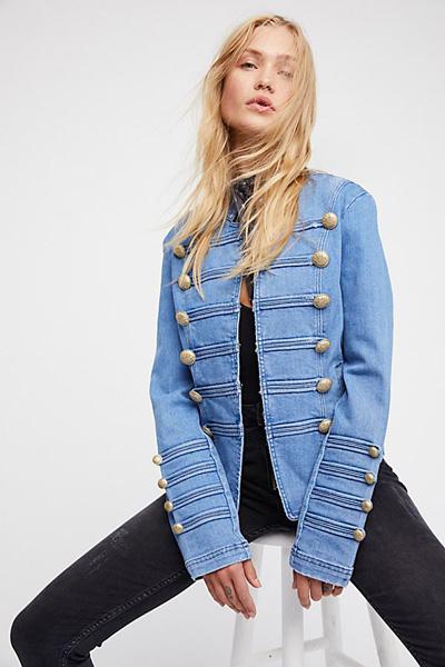 denim military jacket